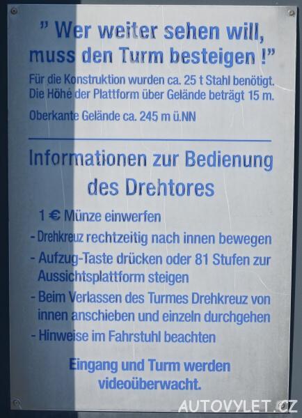Rozhledna Rathmannsdorf - Německo 6