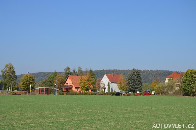 Rozhledna Rathmannsdorf - Německo - parkoviště