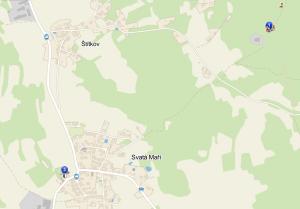 rozhledna svata mari mapa