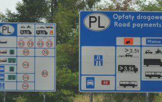 Rychlostní limity v Polsku