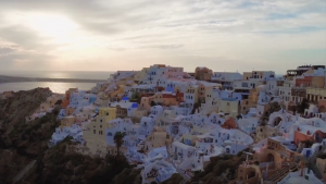 santorini řecko video
