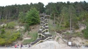 Schody Kawcza Gora - Miedzyzdroje Polsko