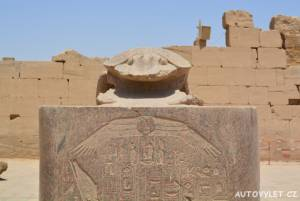 Sfingy chrám Karnak Luxor Egypt