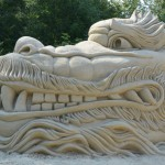 sochy z písku lednice