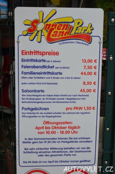 Sonnenlandpark Lichtenau Chemnitz Německo 02