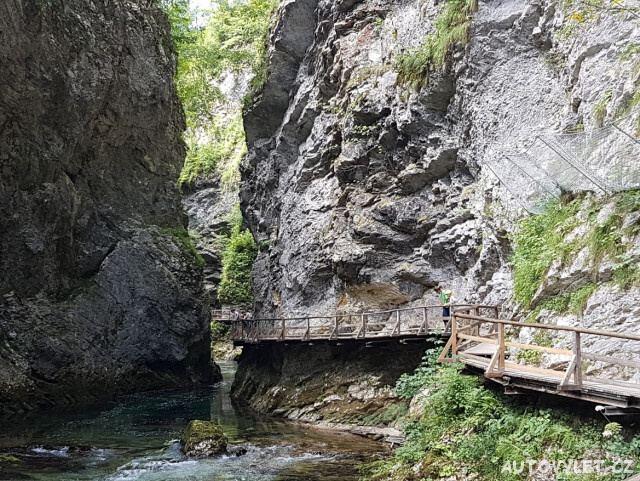 Soutěska Vintgar Slovinsko 4