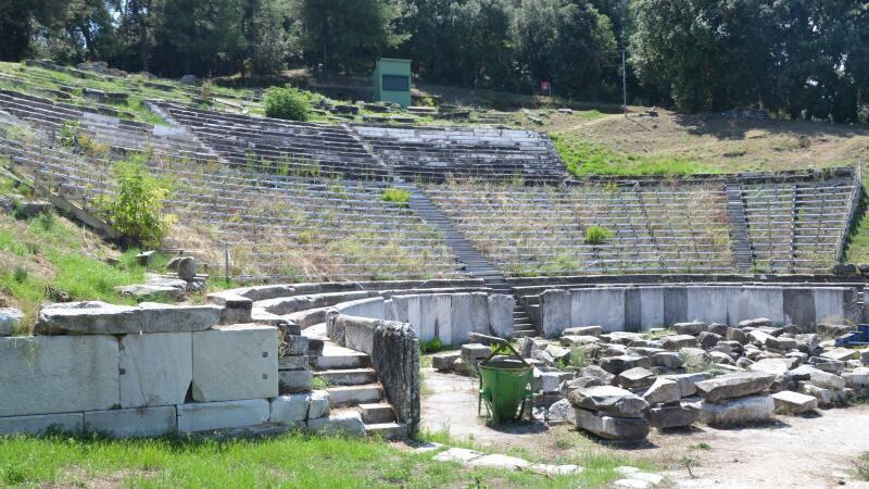 Starověké divadlo Thasos Řecko