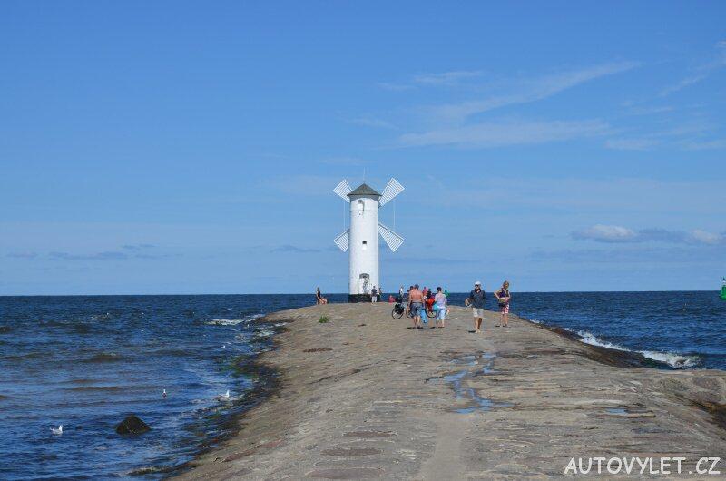 Stawa Mlyny - větrný mlýn Svinoústí Polsko 2