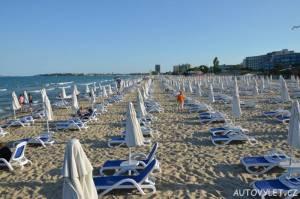 sunny beach písečná pláž slunečné pobřeží bulharsko