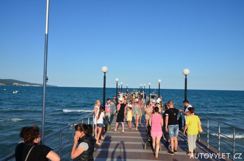 Molo na Sunny beach v Bulharsku