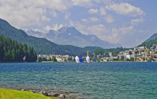 Svatý Mořic Švýcarsko - jezero