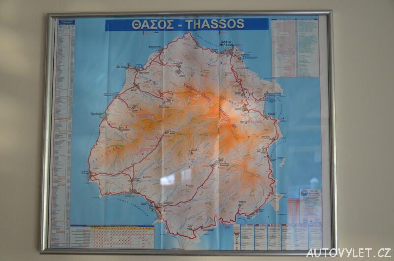 Thassos Green Bay Hotel Řecko - mapa ostrova