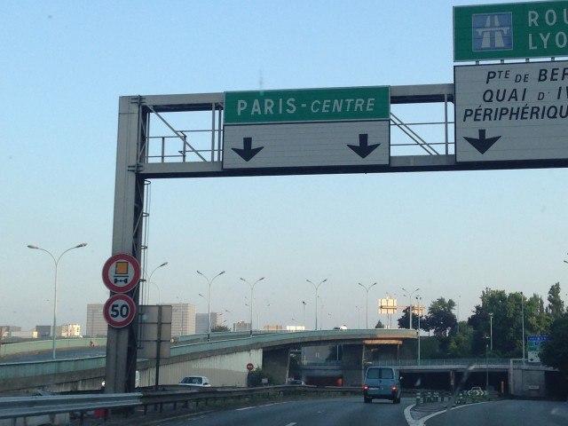 Paříž centrum rovně
