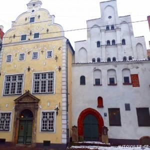 Tři bratři - historické domy - Riga Lotyšsko