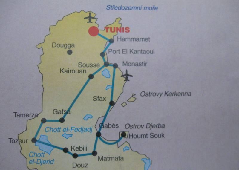 tunisko poznávací zájezd