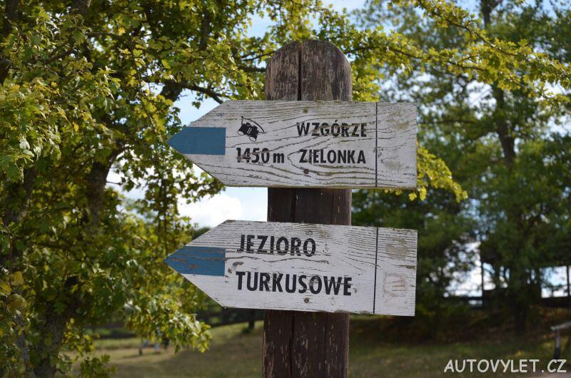 Turistický rozcestník v Polsku