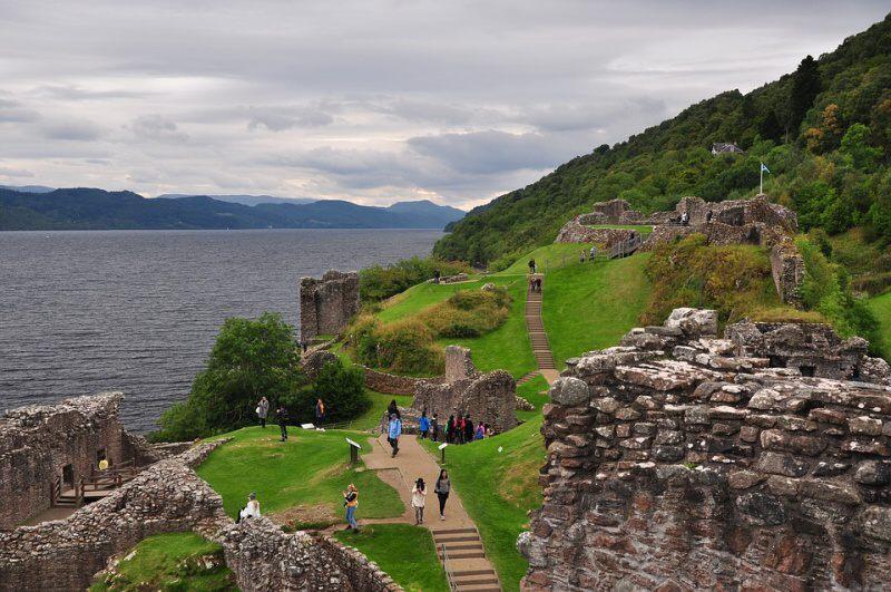 Urquhart hrad Lochness Skotsko