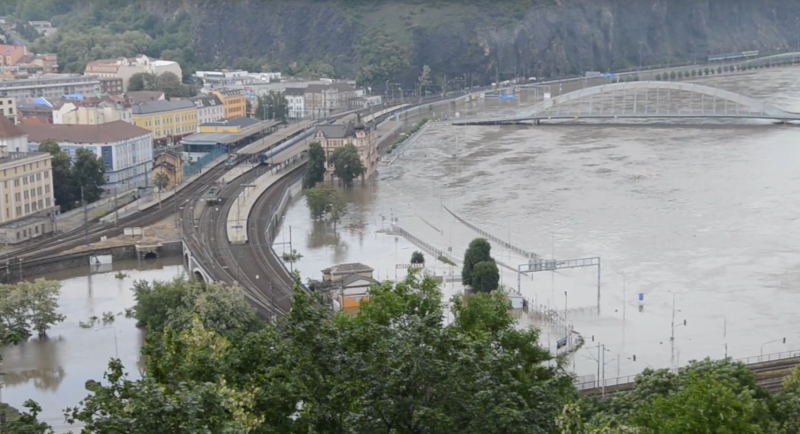 Ústí nad Labem záplavy 2