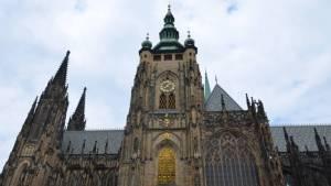 Věž katedrály sv. Víta na pražském hradě