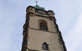 věž kostela mělník