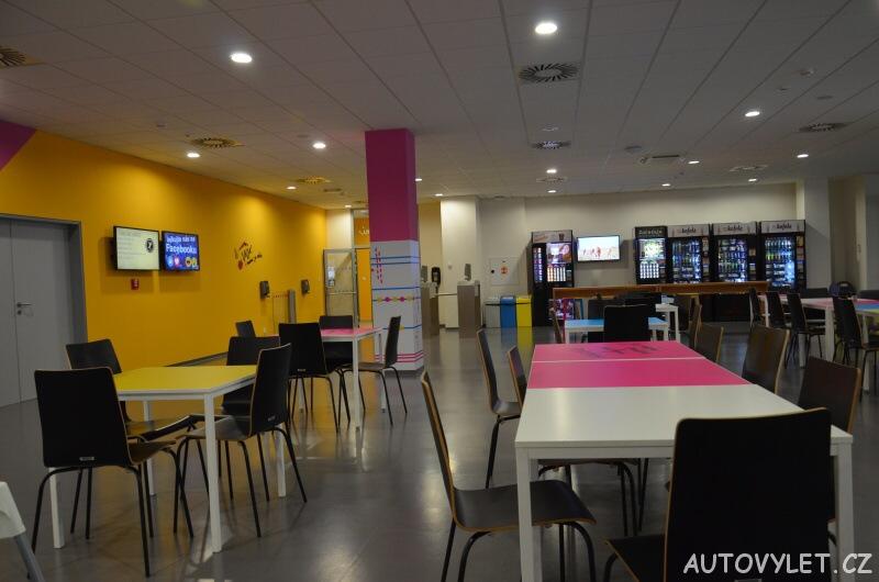 Vida science centrum Brno vědecký zábavní park - restaurace