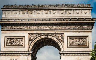 vítězný oblouk paříž francie