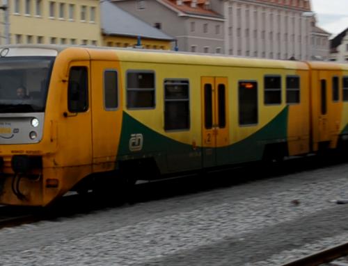 Litoměřice horní nádraží a odjezd vlaku do Lovosic – video