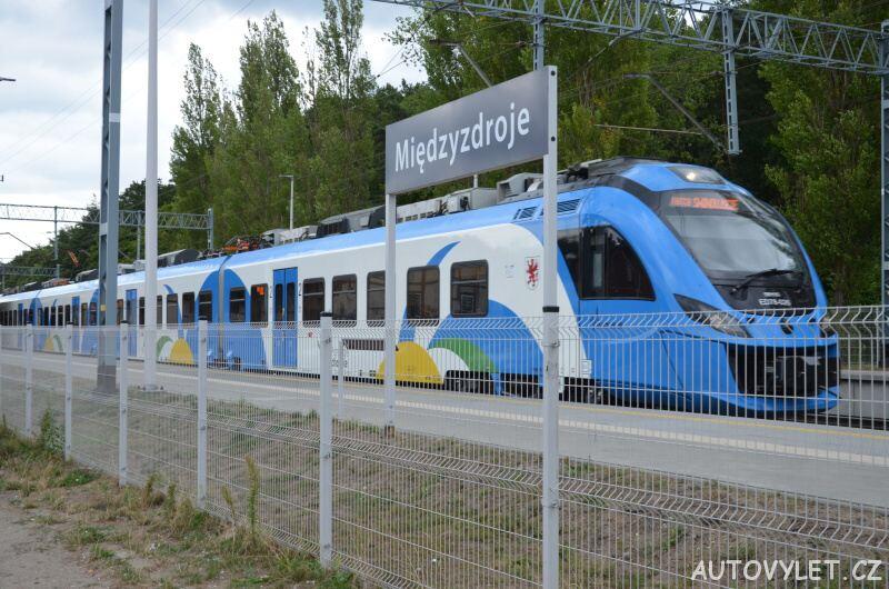 Vlakové nádraží Miedzyzdroje Polsko 2