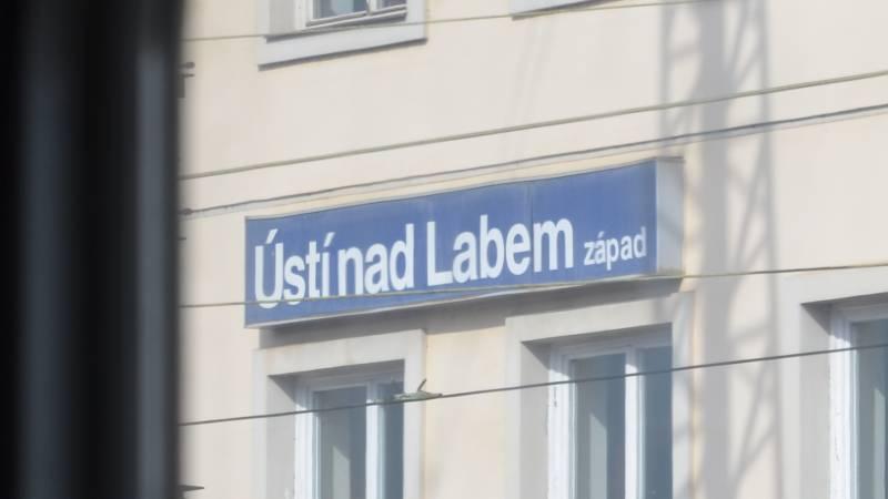 vlakové nádraží Ústí nad Labem západ