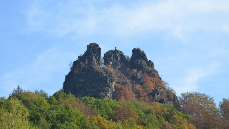 Vrabinec hrad - zřícenina Těchlovice