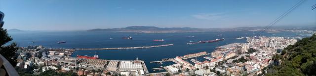 Výhled na Gibraltarský průplav - Španělsko
