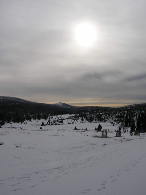 Výhled na horu Lužný