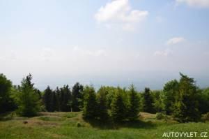 Výhled na město Teplice z Komáří vížky
