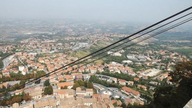 výhled z lanovky san marino
