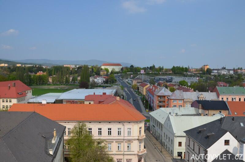 Výhled z městské věž Chomutově