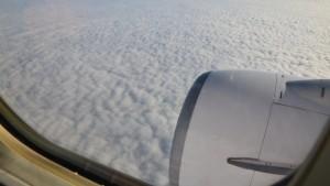 výhled z okénka letadla