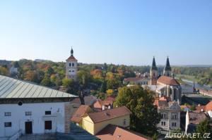 Výhled z roudnické vyhlídkové věže