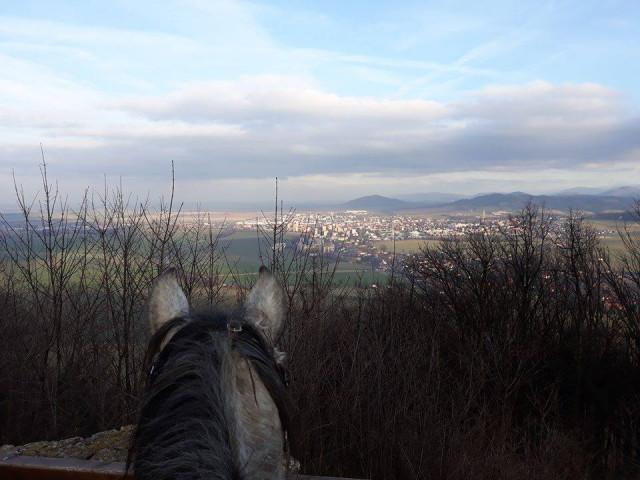 Výhled z prostor zříceniny hradu Starý Jičín
