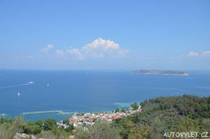 Vyhlídka Thassos Řecko 2