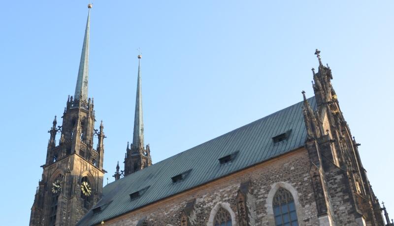 Vyhlídková věž katedrály sv. Petra a Pavla v Brně