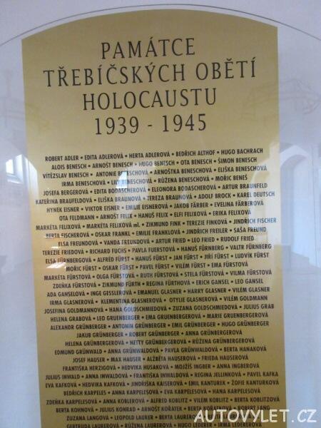 Zadní synagoga v Třebíči - oběti