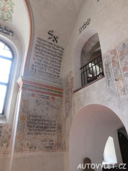 Zadní synagoga v Třebíči - texty