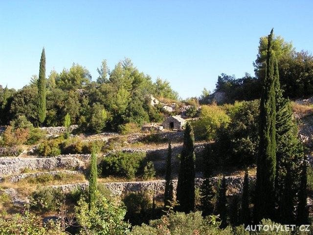 Zahrady na severu - ostrov Korčula Chorvatsko