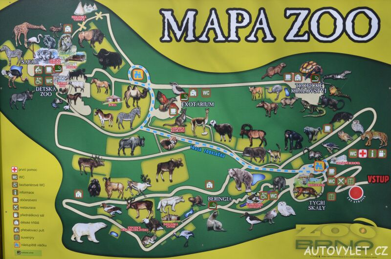 mapa zoo brno