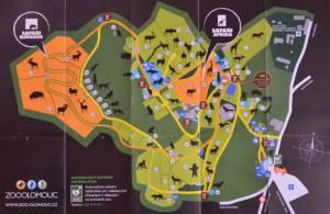 zoo olomouc mapa