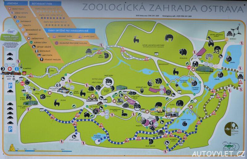 mapa zoo ostrava