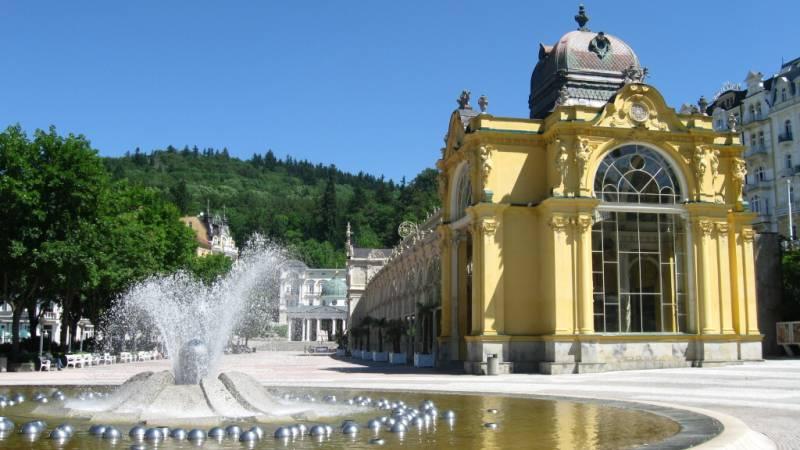 zpívající fontána mariánské lázně